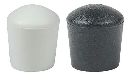 16 Piezas: Muchos Colores y Tamaños - Tapas Pies de Cúpula para Muebles Patas Mesas Sillas por Lifeswonderful (6mm, Negro)