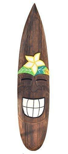 Interlifestyle Tabla de Surf 100cm Decoración Fiji Sonrisa Tabla de Surf Im Tiki Playa Style Hawai