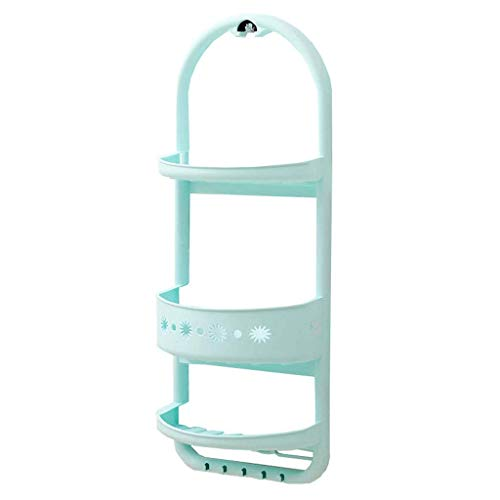 CESULIS Estante de baño estante de almacenamiento de pared para baño ducha Caddy estante de cocina multifunción 3 capas de plástico lavadero fregadero organizadores/estantes