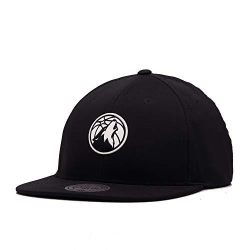Mitchell & Ness Golden State Warriors - Gorra con tirantes de la NBA, color negro Minnesota...