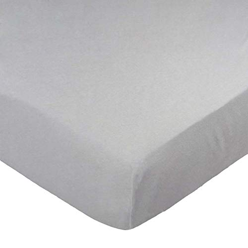 Buy SheetWorld 100% Cotton Jersey Extra Deep Fitted Portable Mini Crib Sheet 24 x 38 x 5.5, Silver G...