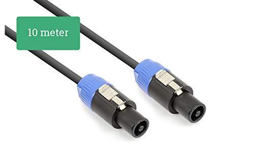 Cable Altavoz 10 Metros conexion speakon 2 Hilos