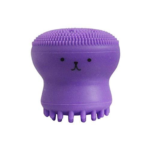 Siliconen reinigingsborstel, klein, krak, reinigingsborstel, siliconen, voor gezichtsreiniging, violet