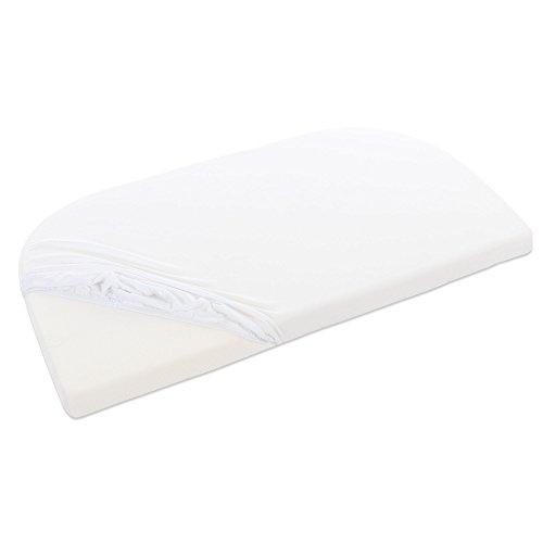 Babybay Jersey hoeslaken voor Maxi, midi, Mini, boxspring en trend (1 of 2 stuks) Organic Cotton voor Maxi, midi, mini-wit 1er Pack wit