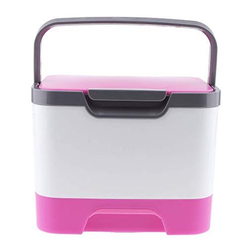 Backbayia Contenant Anti-poussière Case Mallette à Maquillage en Plastique Support Rangement Cosmétiques (Rose)
