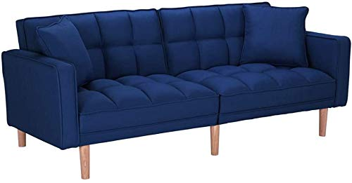 FCNEHLM 100 Modern Futon Bed, Convertible Sleeper Sofa with Armrests and 2...