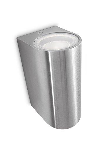 Philips myGarden - Linterna de pared de ruiseñor, requiere 2 x 35 W GU10 bombillas, acero inoxidable, sin bombilla