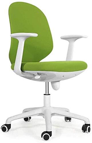 DGHJK Executive Swivel Office Chair Computerstuhl, Home Einfacher Ergonomischer Bürostuhl Compact Seat Drehstuhl, Student Study Desk Chair, Bequemer Und Gesunder Taillenstützstuhl (Farbe
