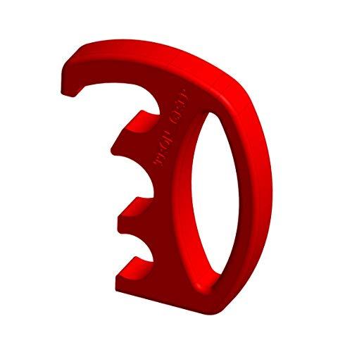 1 Satz Hygienegriff TROLLGRIP flex, Einkaufswagen Griff, Handgriff, Einkaufswagenprotektor für verschiedene Einkaufswagen-Typen (Rot)