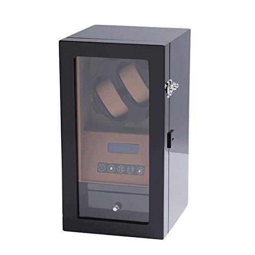 WXDP Automatischer Uhrenbeweger,Automatische Uhrenbewegungsbox, LCD-Display, leiser Motor, 5-TDP-Modus, Uhrenaufbewahrungsgehäuse aus Kohlefaser-Klavier (F