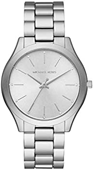 Michael Kors Women's Slim Runway 42mm Bracelet Watch (Silver)