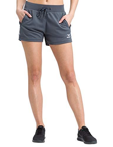 Erima Damen Squad Kurze Trainingsshort, Slate Grey/Silver Grey, 36
