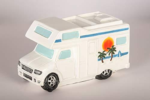 Topshop24you wunderschöne Spardose,Sparbüchse Wohnmobil,Campingkasse,Reisekasse,Urlaubskasse mit Gummipfropfen