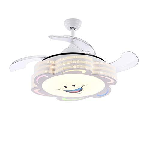 Duor Home Invisible Children Fan Plafondventilator, met led-kleurdimming, plafondventilator, licht