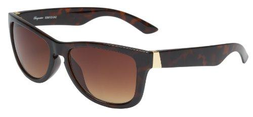 Schöne Marken Sonnenbrille für Damen von Burgmeister mit 100% UV Schutz   Sonnenbrille mit stabiler Polycarbonatfassung, hochwertigem Brillenetui, Brillenbeutel und 2 Jahren Garantie   SBM102-242