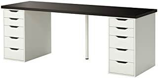 Ikea Table with 10 drawers, black-brown, white 202020.11820.3826