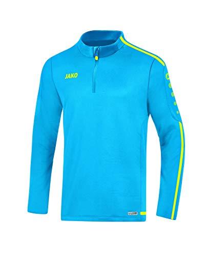JAKO Herren Striker 2.0 Trainingsziptop, blau/Neongelb, L