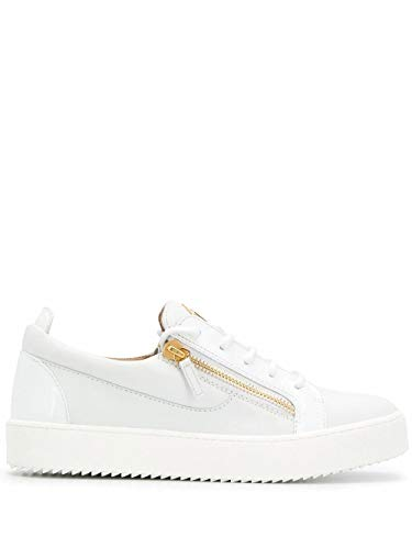 Giuseppe Zanotti Luxury Fashion Design Herren RU00010004 Weiss Leder Sneakers | Herbst Winter 20