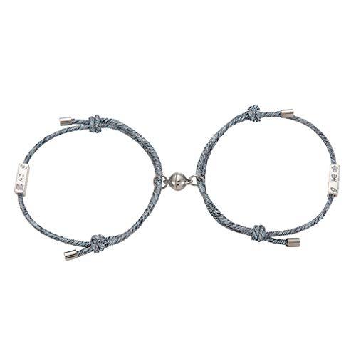 Mingtongli 1 Par Par Trenzado pulsera colgante brazalete de la aleación de la joyería ajustable Decoración mano del regalo, tipo 3