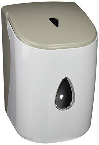 Timblau - TIM-024010 - Dispensador de Papel Mecha en ABS, Dispensador de Papel Secamanos para Bobinas de Extracción Central de Papel