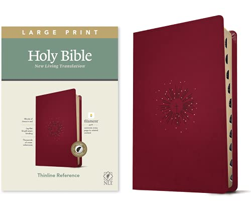 Holy Bible: New Living Translation, Thinline Reference Bible, Berry, Filament Enabled Edition, Red Letter, Leatherlike