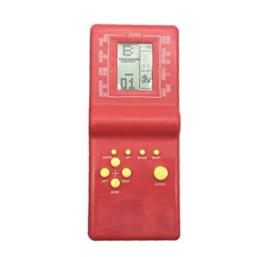 Naisicatar Tetris Brick Spiel Handspiel-Konsole Handspiel-Konsole Farbbildschirm Retro Game Console Zufällige Farbe