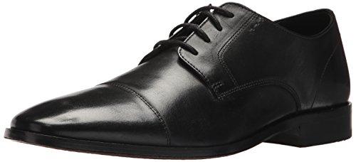 Bostonian mens Nantasket Cap Oxford, Black Leather, 10.5 US