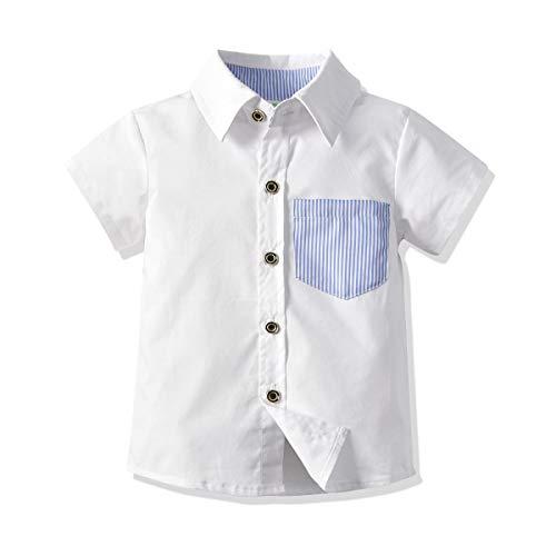 Moli&Hani ボーイズシャツ ワイシャツ 半袖シャツ yシャツ キ...