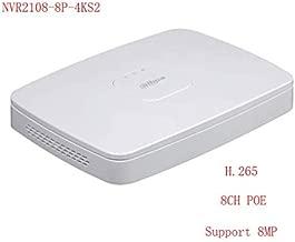 Dahua NVR2108-8P-4KS2 8MP 8 Channel Smart 8 PoE Lite Network Video Recorder ONVIF Dual-core Embedded Processor NVR