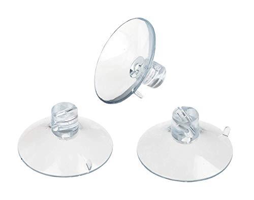 Idena 8522040 Saugnapfhalter, Plastik, transparent, 8x11,6x4,8 cm, 20 Stück
