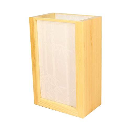Lámpara de mesita de noche Tabla de madera de la vendimia de la lámpara de Asia Oriental JapaneseBedside Tabla Luz piso de transmisión de luz de la lámpara de PVC cortinas de la sala Habitación Hotel