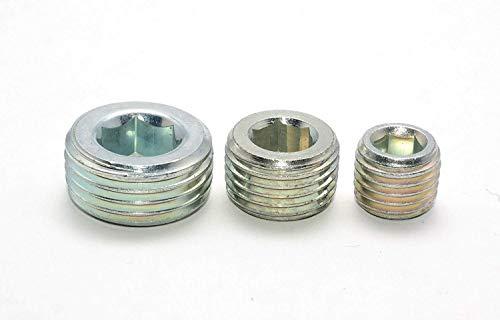 Verschlussschraube DIN 906 M18x1,5-5 Stück Innensechskant, kegeliges FEIN-Gewinde mit Innensechskant in Stahl Verzinkt