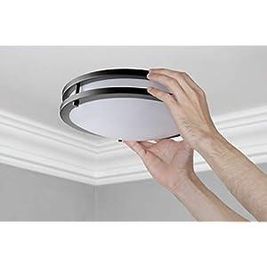 LB72160 12-Inch LED Flush Mount Ceiling Light, Oil Rubbed Bronze, 5000K Daylight, 1050 Lumens, ETL & DLC Listed, Energy Star, Dimmable LED Ceiling Light
