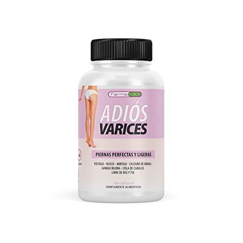 Exclusivo tratamiento Anti-Varices | Elimina los síntomas de piernas cansadas e inflamadas | Activa la circulación y mejora el riego sanguíneo | Tratamiento Anti-Varices Nº1 del mercado | 100 cápsulas