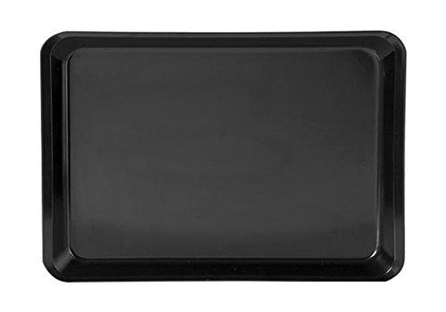 H&H Schüssel mit Rand, Kunststoff, Schwarz, 40 x 30 x 4 cm