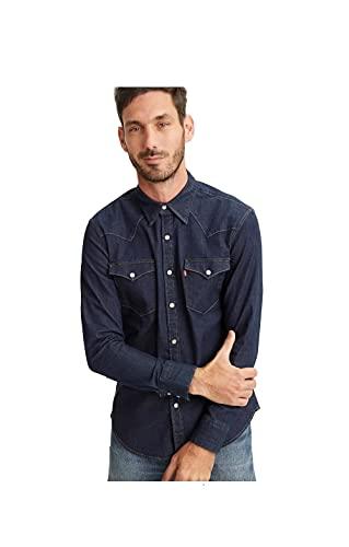 Levi's Barstow Western Slim Shirt, Red Cast Rinse Stretch, M para Hombre
