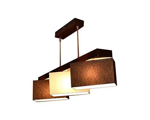 Lampadario Lampada a sospensione Milano M3H Mix lampada 3 luci, diverse varianti, Braun-Creme-Braun, E14 120.0 wattsW 230.00 voltsV