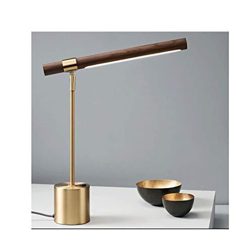 Lámparas de Lectura Escritorio Simple Moderna Lámpara de Diseño Lámpara de Mesa Brown Cilíndrico Pantalla de Oro Estable Con Base Metálica for el Dormitorio Oficina Dormitorio de la Universidad Luz Te