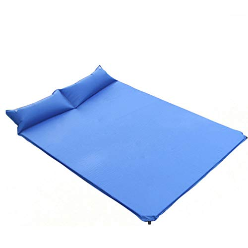 ZFW Doppeltes automatisches aufblasbares Kissen im Freien, 190T Polyester-TAFT PVC, glatt und bequem, passend für Haus, im Freien, kampierend