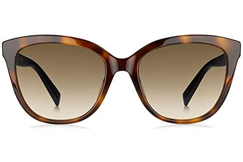 Max Mara Damen MM TILE HA 581 55 Sonnenbrille, Schwarz (Havana Black/Bw Black Brown)