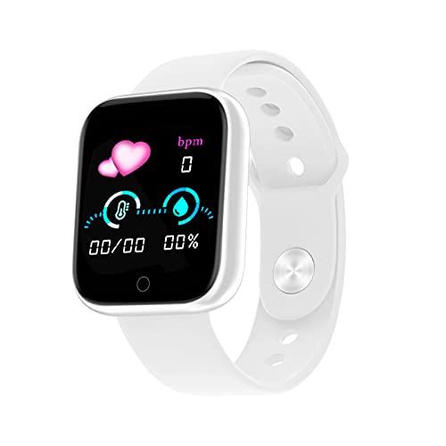 Flytise Braccialetto sportivo intelligente Y68 Schermo touch singolo IPS da 1,44 pollici BT4.0 USB Tracker fitness a carica rapida intelligente Modalità sport multipli Sonno/Frequenza cardiaca /