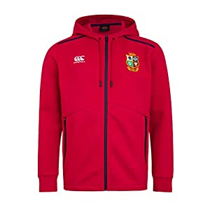 canterbury of New Zealand Men's British and Irish Lions Full Zip Tech Fleece, Tango Red, XS from Canterbury