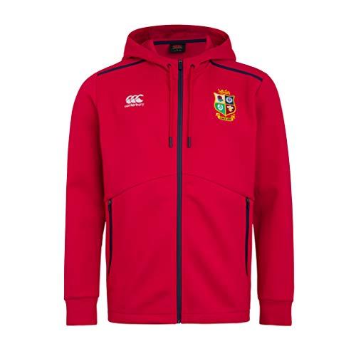 Canterbury Herren British and Irish Lions Full Zip Tech Fleece, Rot-Tango Red, XXL
