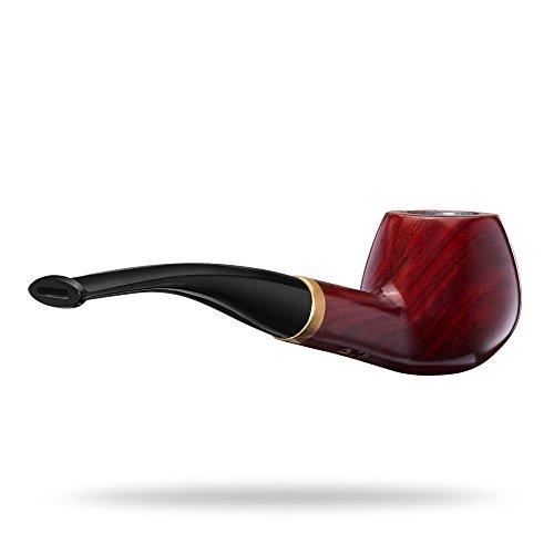 A.P. Donovan - Holz-Tabak-Pfeife klassisch handgemacht (auch für Einsteiger/Anfänger) aus Mahagoni Echtholz - für 9mm Filter (Votan)