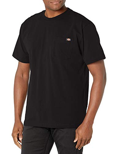 Dickie's Men's Heavyweight Crew Neck Short Sleeve Tee Big-tall,Black,2X-Large Tall
