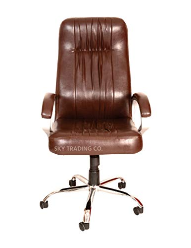 SKY Trading co. Sky REVOLVING Chairs/Director Chair/BOSS Chair/Gaming Chair/(Brown Color)