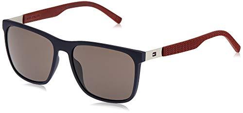 Tommy Hilfiger Herren Th 1445/S Nr Lcn 57 Sonnenbrille, Blau (Blu Burgundy/Brw Grey), EU