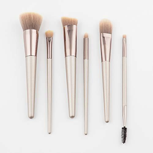 BERYLSHOP Ensemble de pinceaux de maquillage Outils Trousse de toilette de maquillage Pinceau cosmétique en nylon Pinceau for les yeux (Couleur : Marron, Size : 6-piece)