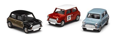 Corgi - CR5003 - 3 pièces Mini Collection - Véronique bleu, Radford Wicker Mini, Mini Rallye Monte-Carlo
