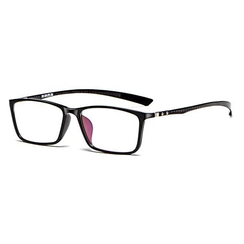 EYEphd Gafas de Lectura Anti-Azules de Enfoque múltiple progresivas Inteligentes para Hombres, Lentes de Marco TR rectangulares clásicos Aumento +1.0 a +3.0,Negro,+1.0